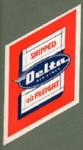 Airline label  Delta Airlines luggage label #517